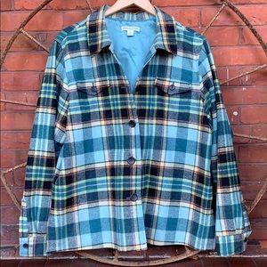 PENDLETON Wool Plaid Button Down Shirt Jacket